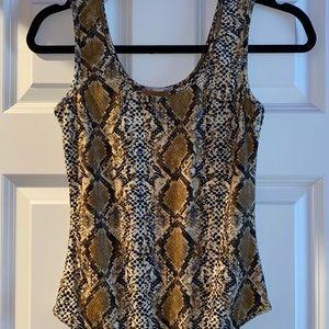 Brown snake print bodysuits